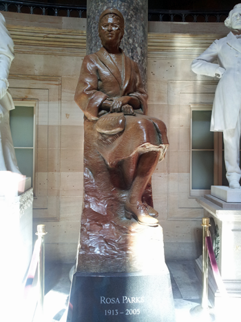 one of the newer statues in the National Statuary Hall: Ms. Rosa Parks