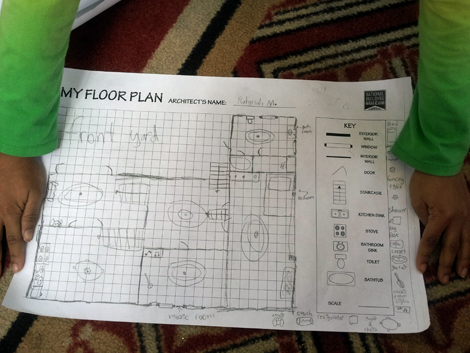 ...drew the floor plan of her home...