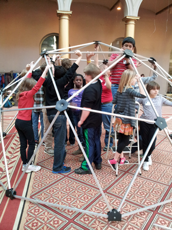 radianceGirl explored the extraordinary properties of domes, then worked in a team to build one.
